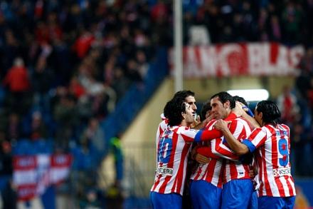 Los jugadores del Atleti celebran el gol de Adrián que significó la victoria ante un buen Celta/Foto: Atlético de Madrid